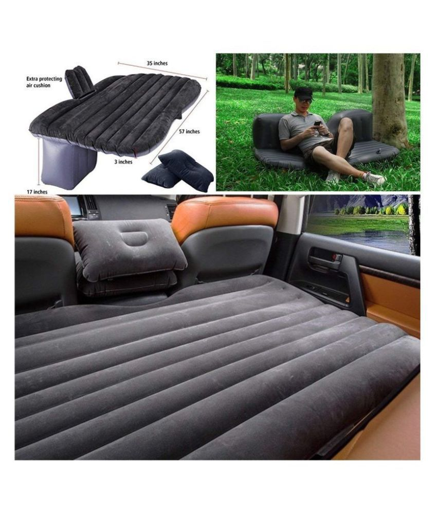 BK 10 IMPORT & EXPORT Travel Bed Sofa with 2 Inflatable Pillows and Air Pump for Car Back Seat