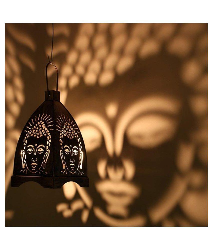 DECORATE INDIA Hanging Buddha  Iron Hanging Lantern Hanging Lanterns 18 - Pack of 1