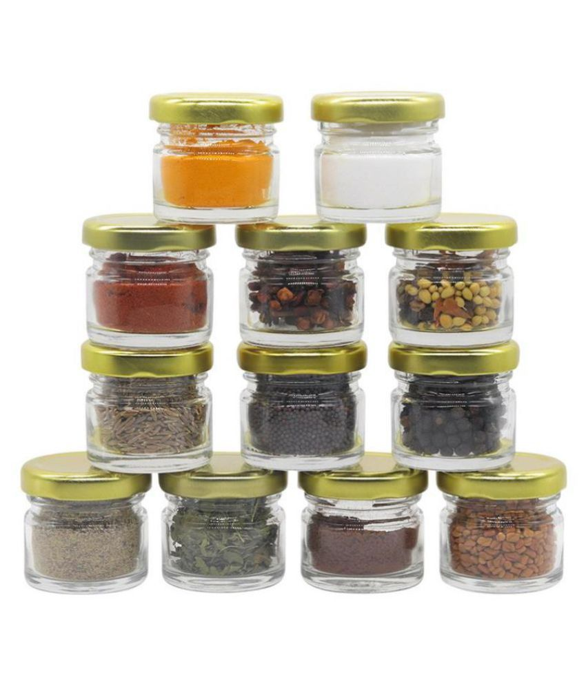 Glazzure Glass Spice Container Set of 12 50 mL