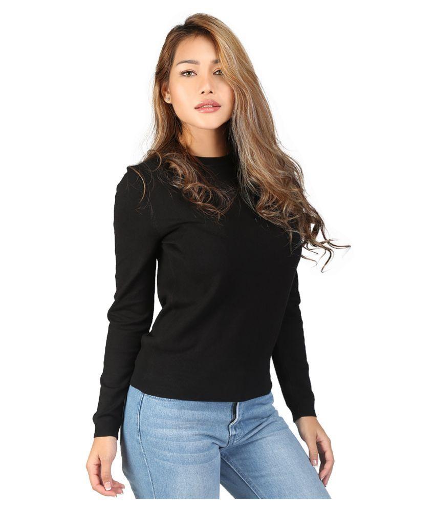 London Rag Nylon Black Non Hooded Sweatshirt
