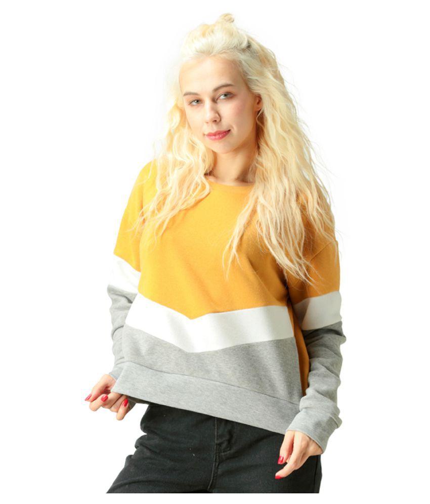 London Rag Poly Cotton Yellow Non Hooded Sweatshirt