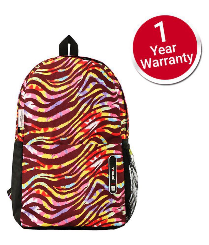 Timus Indigo Beige 19L College Bag School Casual Bags Backpacks for Boys & Girls - 19 Inch