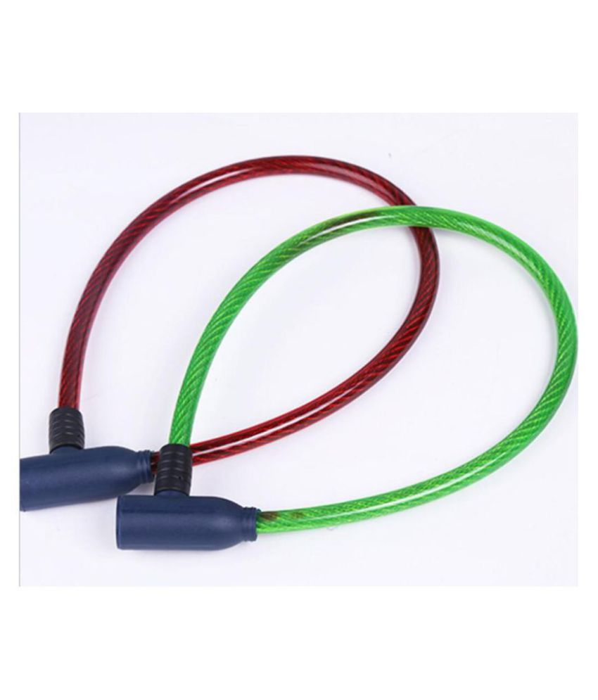 Villy™ Multicolour Cable Type Helmet Lock - Non-Resettable Number Lock