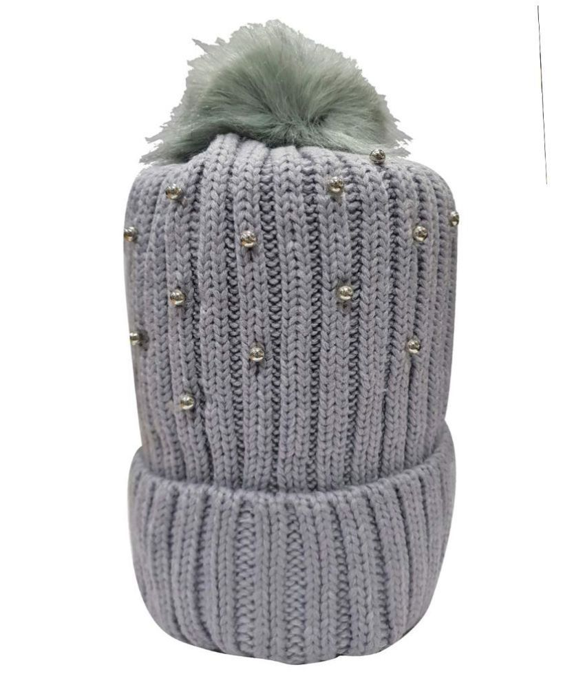 Babeezworld Baby Winter Woolen Warm Cap with Ear Protection (8-9 Years )