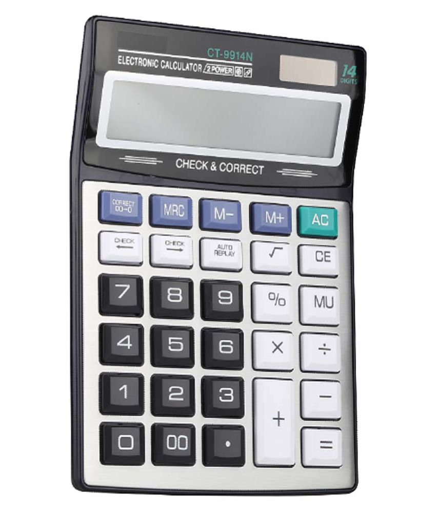 CT-9914N 14 Digit Display -Big Size -2 Power Battery AA Financial Calculator