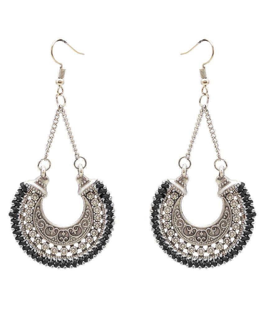 Jewelz Modish Silverplated Earrings
