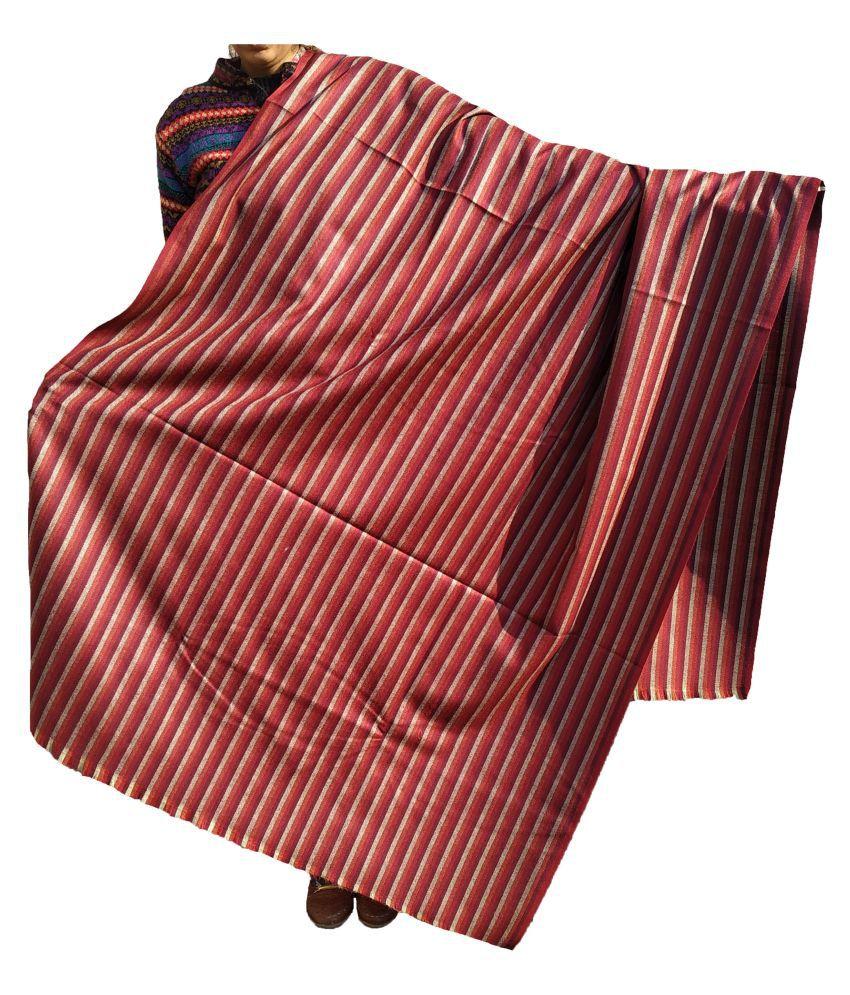 KASHMIRI Maroon Loom-Woven Shawl