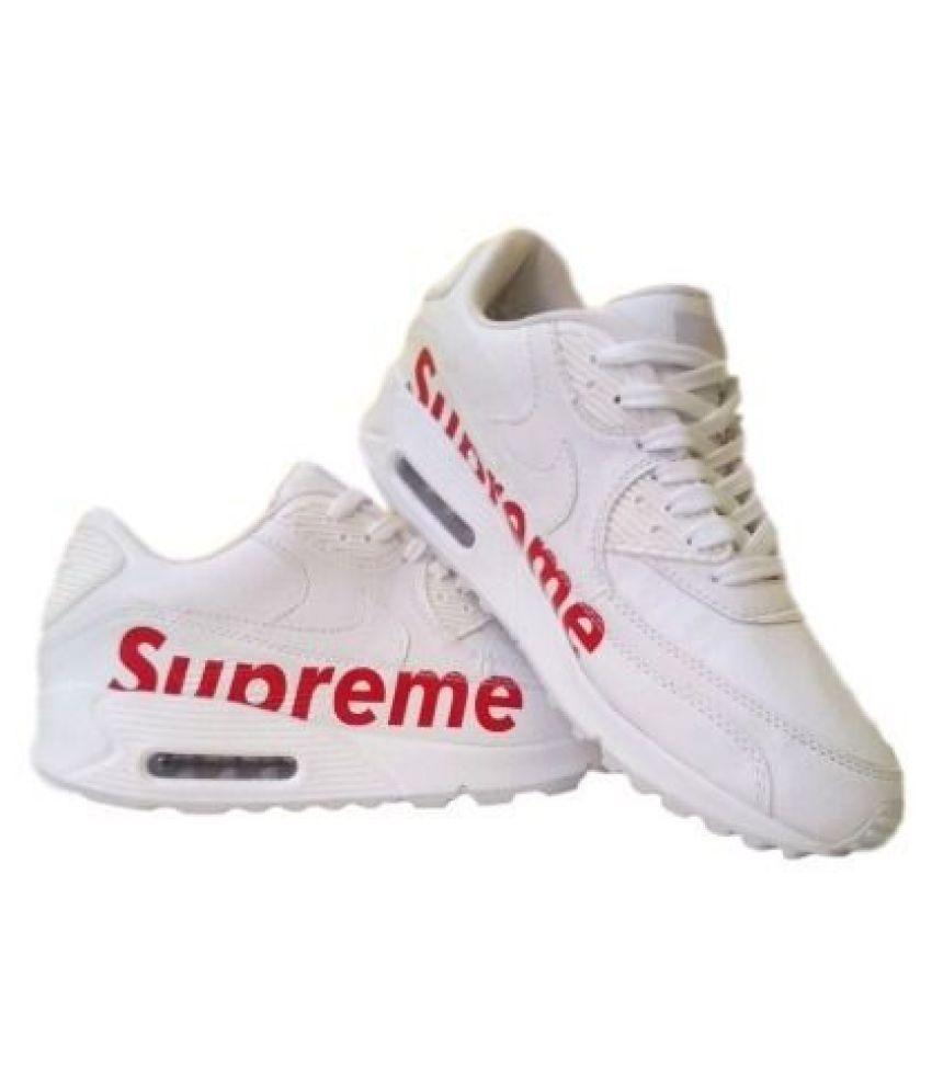 Nike airmax 90 supreme White Training Shoes - Buy Nike airmax 90 ...