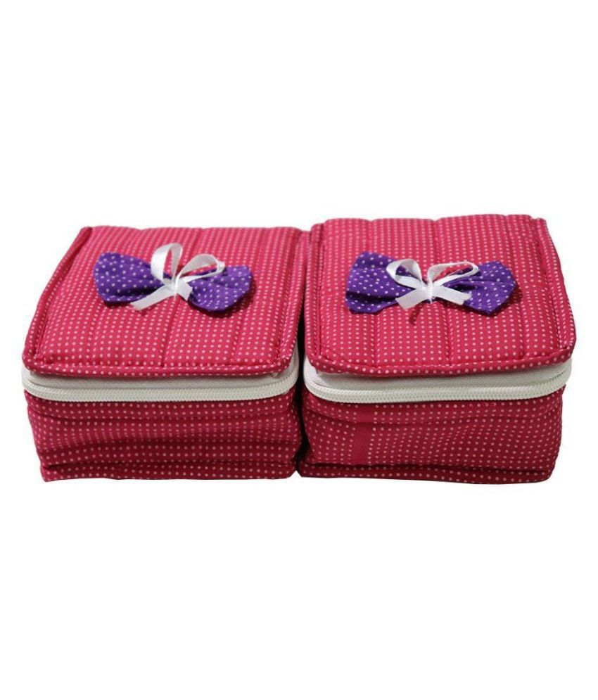 Fore Trend 2 Piece Cotton Jewellery Box Set