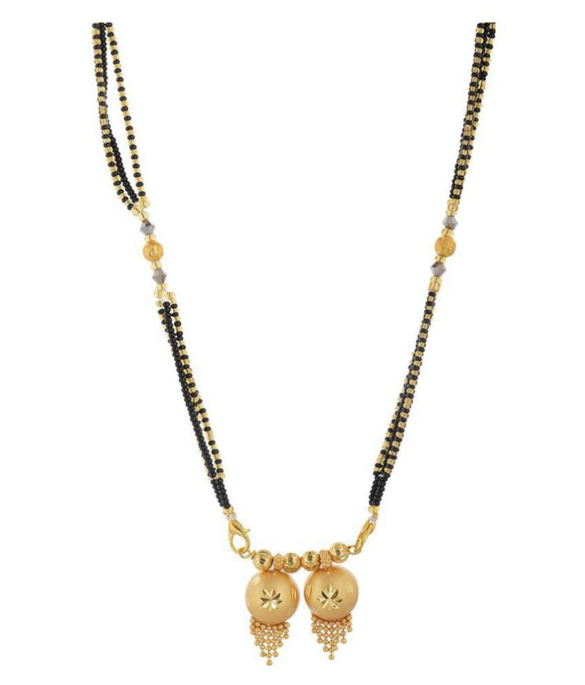 Jewar Mandi Gold Plated Mangalsutra For Women 7927