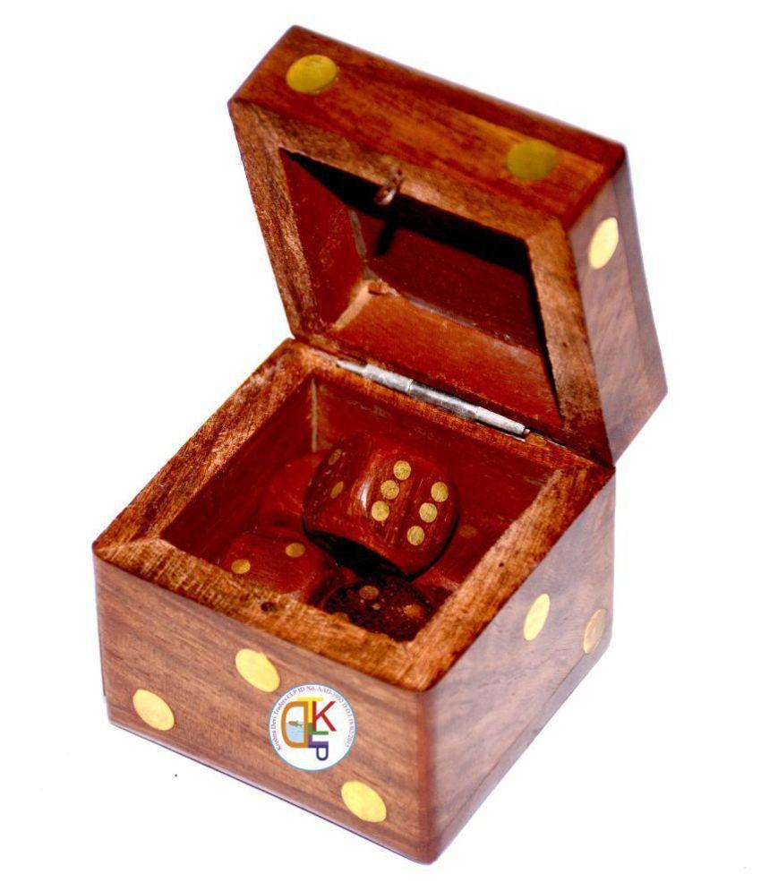 Kdt Wooden Brass Dice Set Set Of 2 Buy Kdt Wooden Brass Dice Set Set Of 2 Online At Low Price Snapdeal