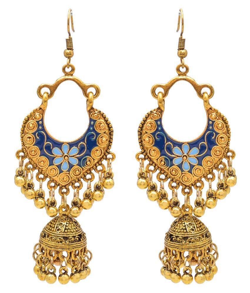 Jewelz Stylish Long Jhumka Earrings