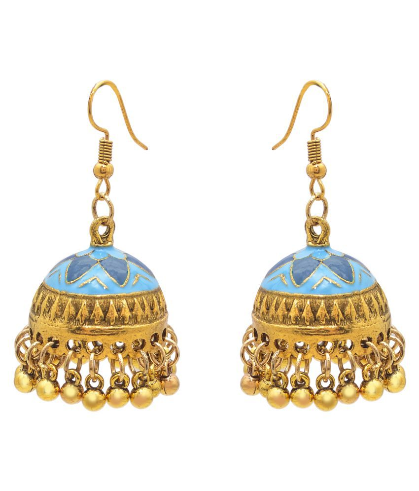 Jewelz Golden Beads Decorated Earring