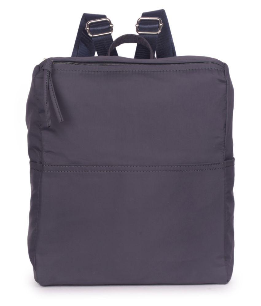 Bagkok Black P.U. Backpack