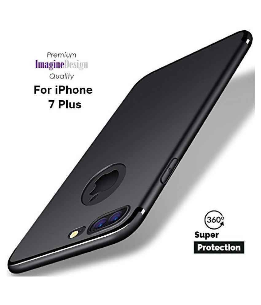 Apple iPhone 7 Plus Soft Silicon Cases Wow Imagine   Black