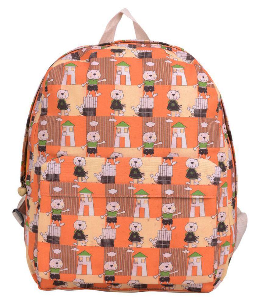 Hamston Light Orange Fabric Backpack