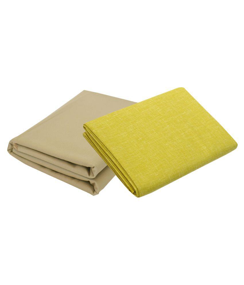 KUNDAN SULZ GWALIOR Multi Cotton Blend Unstitched Shirts & Trousers 2 Pieces ( 1 Pant & 1 Shirt Piece )