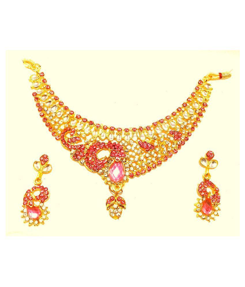 Shopezzz Bazaar Gold Plated Jewellery Set for Women