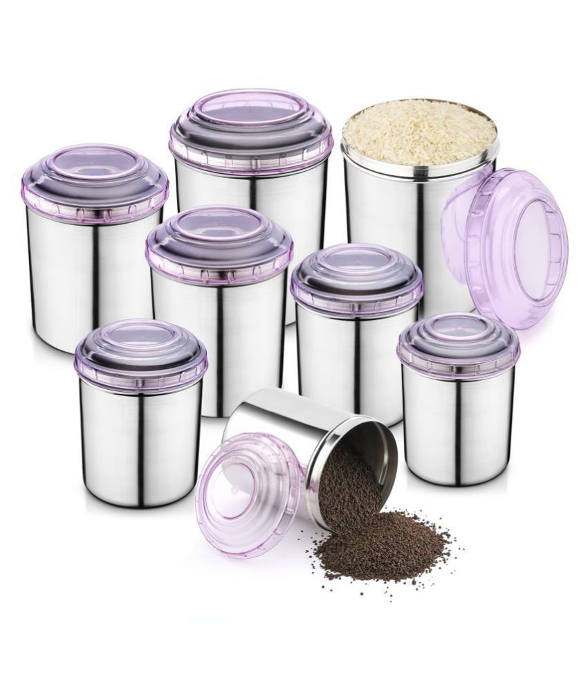 Jensons Steel Food Container Set of 8 10400 mL