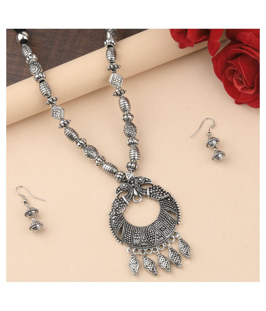 Silver Shine Alloy Silver Contemporary Contemporary/Fashion Antique Necklaces Set