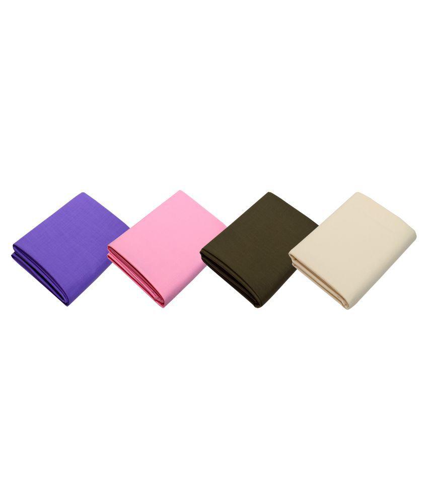KUNDAN SULZ GWALIOR Multi Cotton Blend Unstiched Kurta 4 Pieces Kurta Fabric