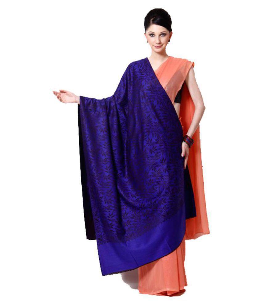 Shawl-e-Kashmir Purple Kashmiri Shawl