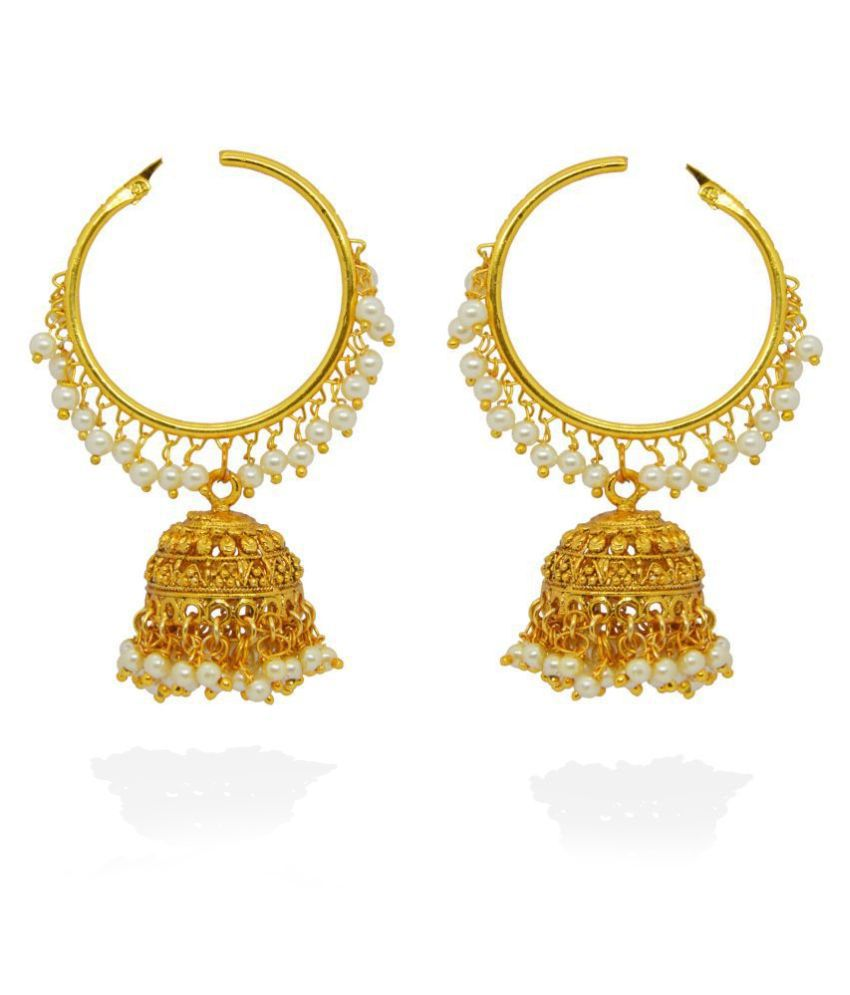 Afghani Jewellery Oxidized Gold Plated Jhumkis Earrings for Women j. j. jewellers