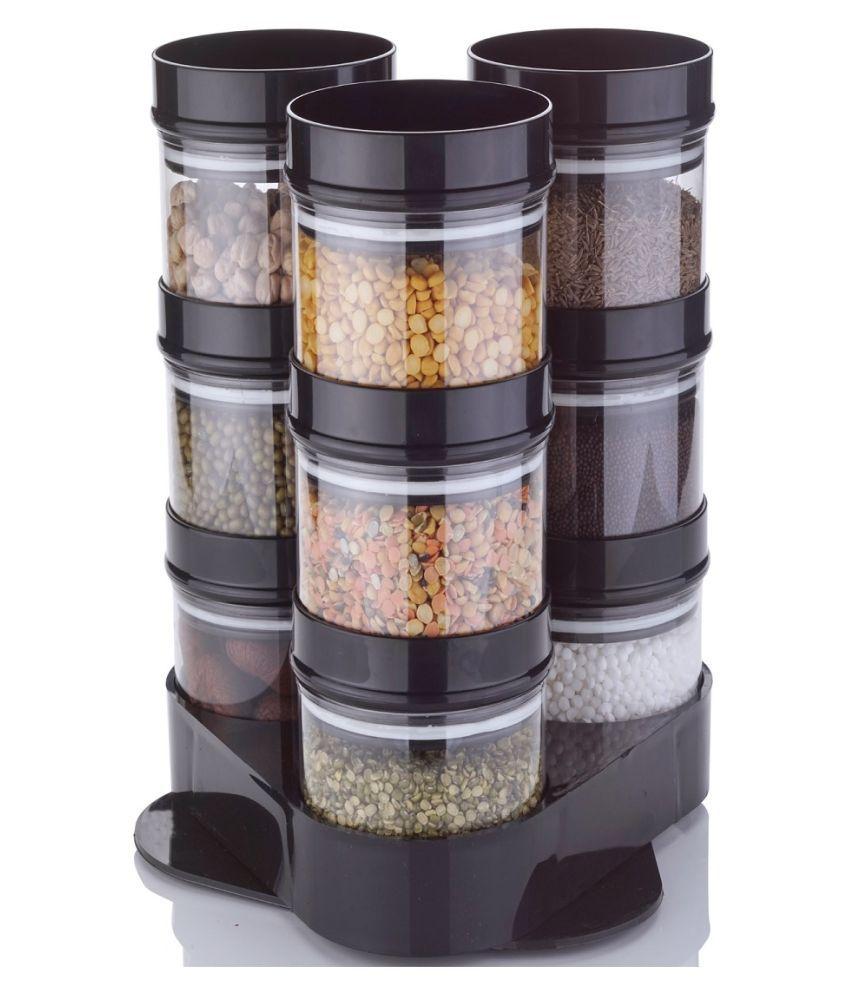 Mahi Sales Crystal  Polyproplene Food Container Set of 9 250 mL