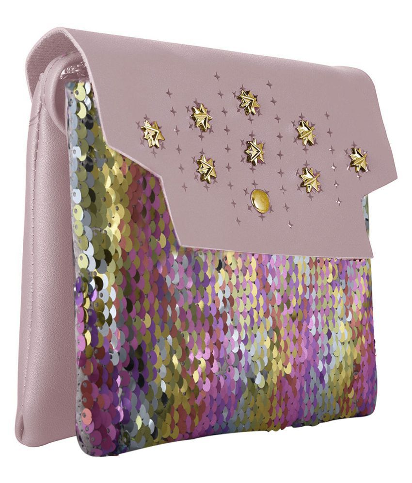 TAP FASHION Pink P.U. Sling Bag