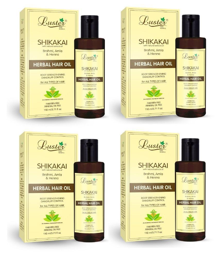 Luster Shikakai Herbal Hair Oil 450 mL Pack of 4