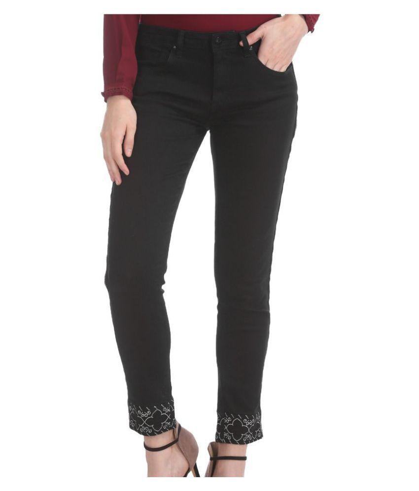 Cherokee Cotton Black Jeans