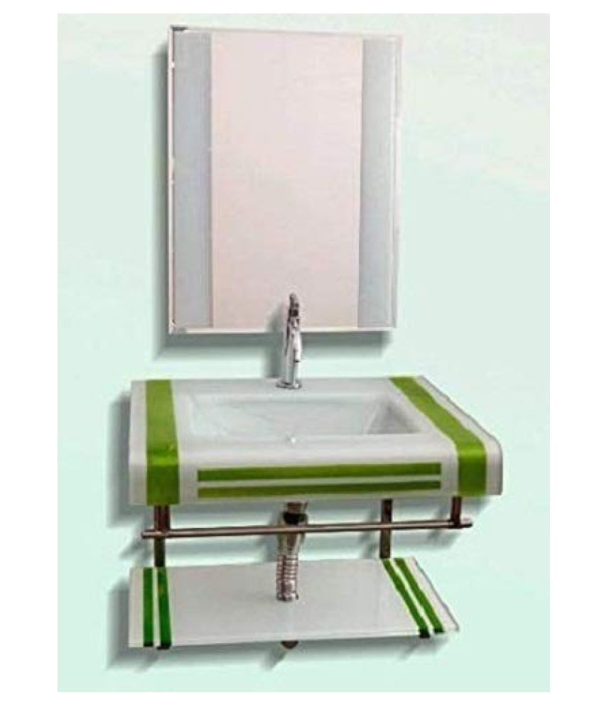 ARVIND SANITARY White Toughened Glass Wall Hung Wash Basins
