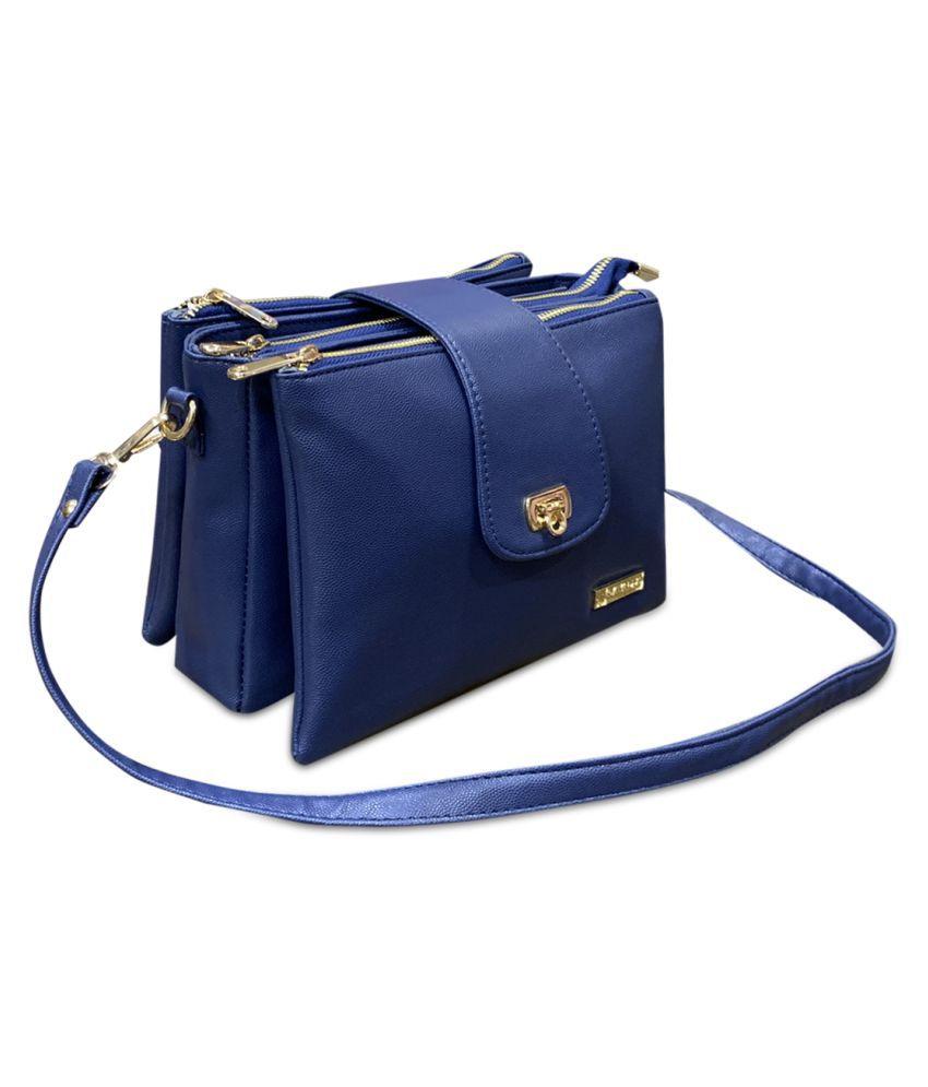Cavallo Blue P.U. Sling Bag