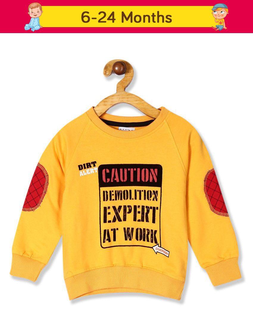Boys Crew Neck Printed Sweatshirt