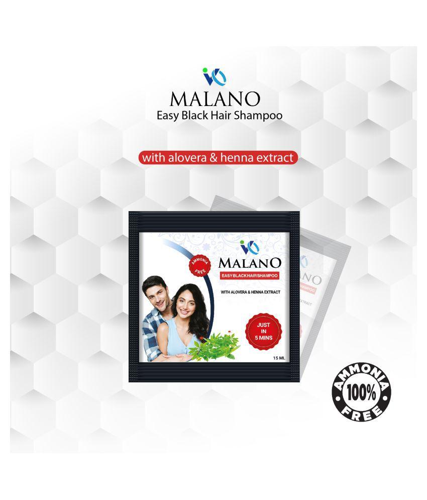 Malano Permanent Hair Color Black 15 mL