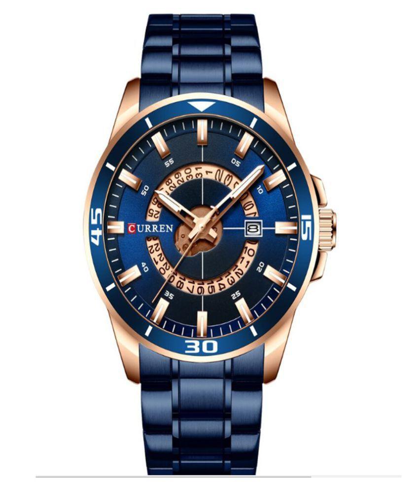 Curren CR 8359 Blue Metal Analog Men #039;s Watch