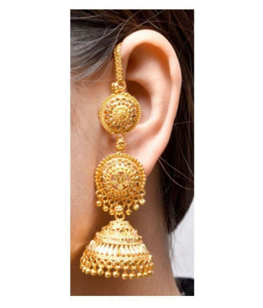 Happy Stoning Premium Quality Gold Plated Bridal Earrings for Girls and women