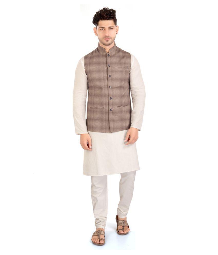 HITIKA TEXTILES Multi Cotton Nehru Jacket
