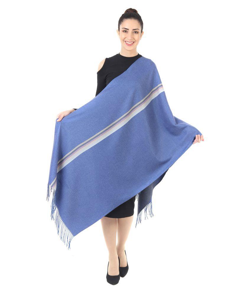 Innayya Blue Stripes Shawl
