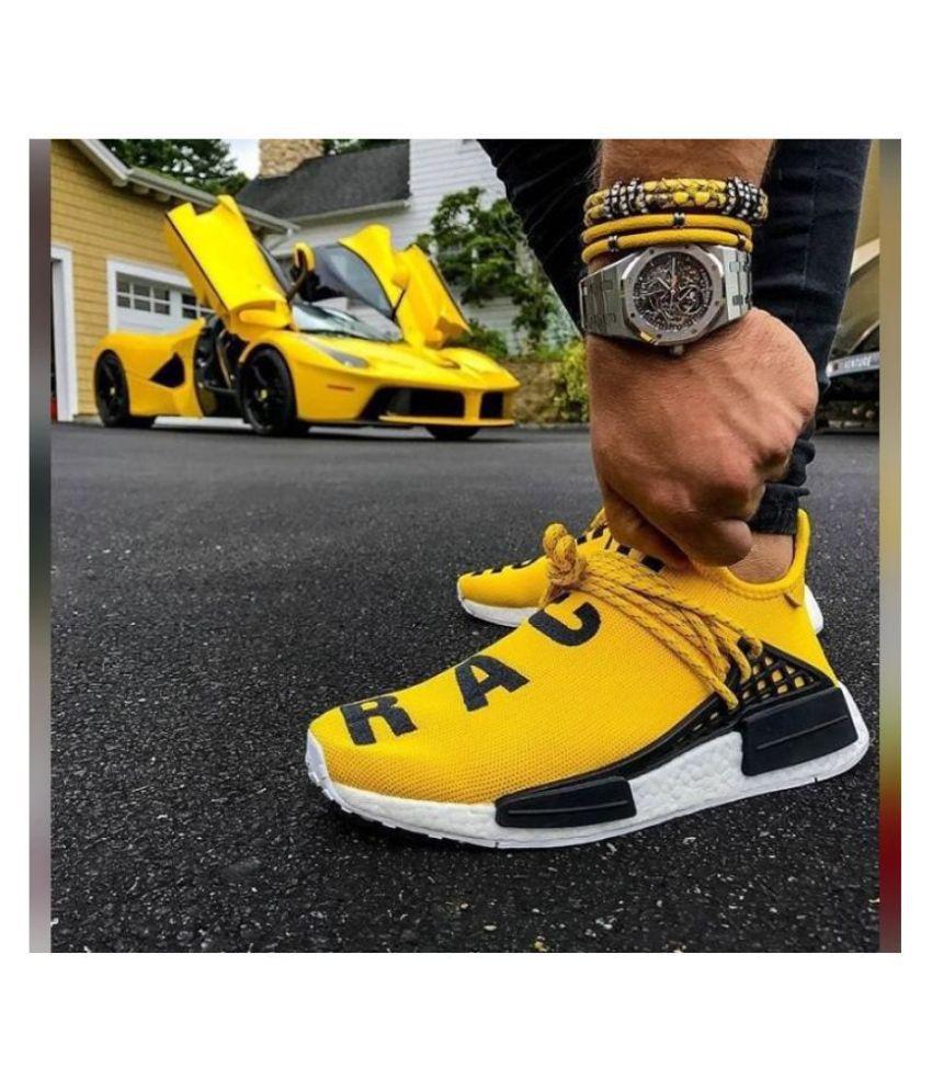 Adidas 2019 HUMAN RACE Yellow Basketball Shoes
