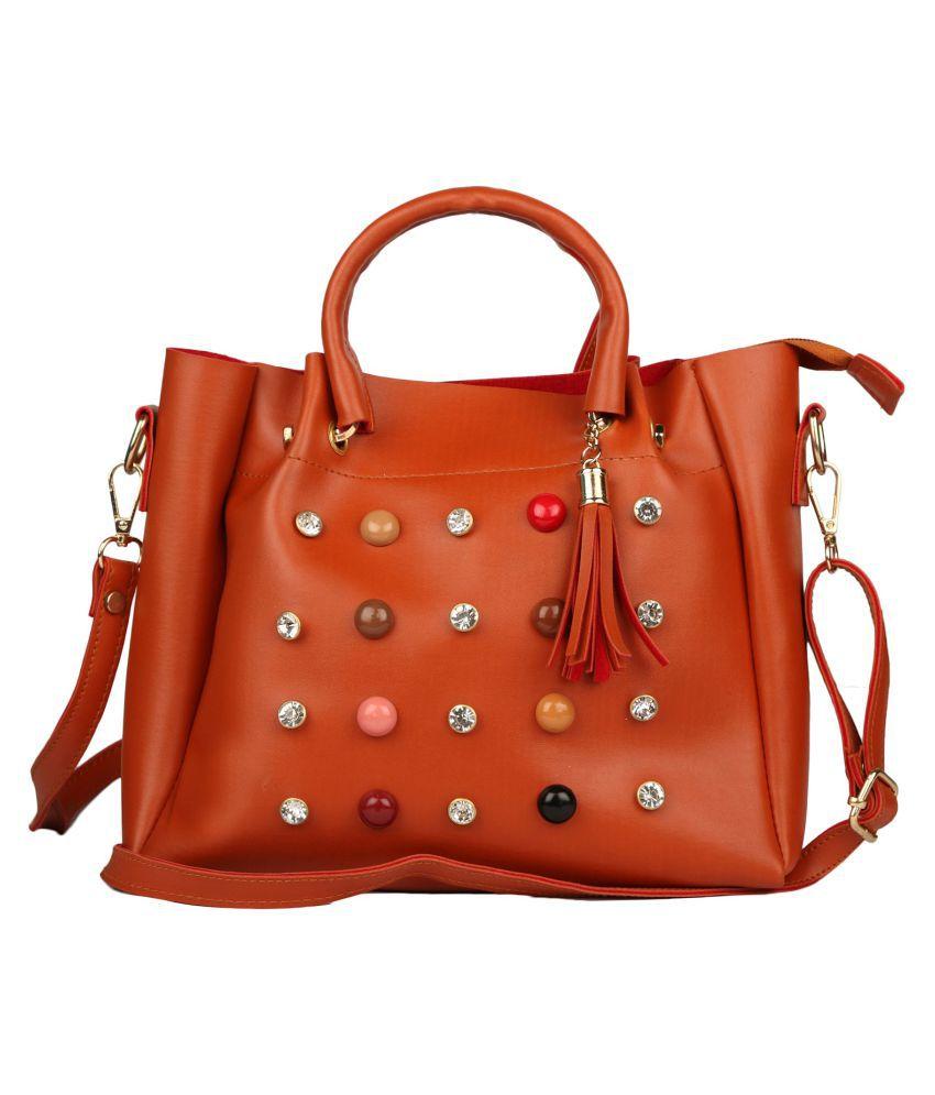 Fashion Gallery Tan P.U. Sling Bag