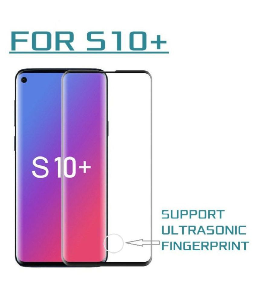Samsung Galaxy S10 Plus Tempered Glass Screen Guard By lenmax UV Protection, Anti Reflection