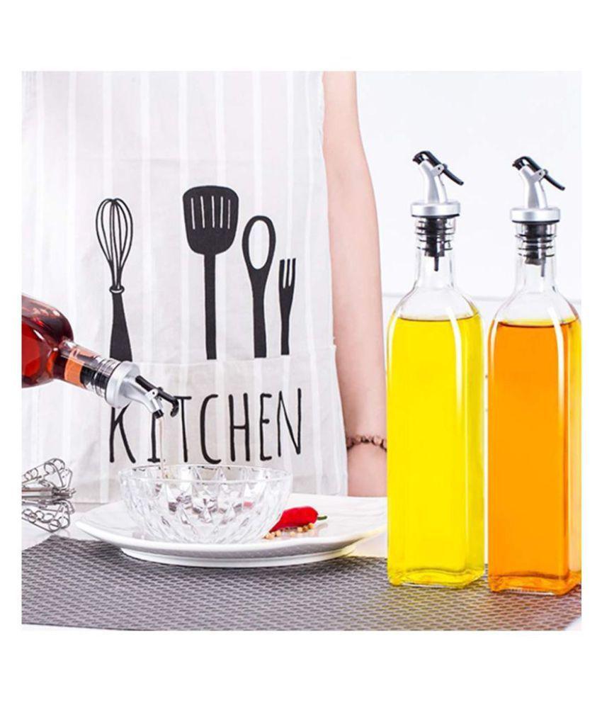 Shopizone 500 ml Oil & Vinegar Glass Oil Container/Dispenser Set of 2 500 mL