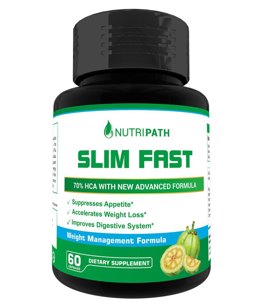Nutripath Slim Fast Pure & Organic 800mg Capsules 60 no.s Unflavoured Single Pack