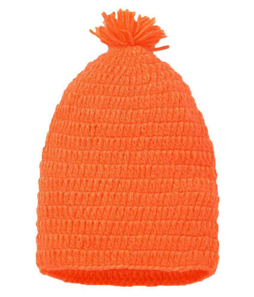 CHUTPUT Orange Pom Pom Cap