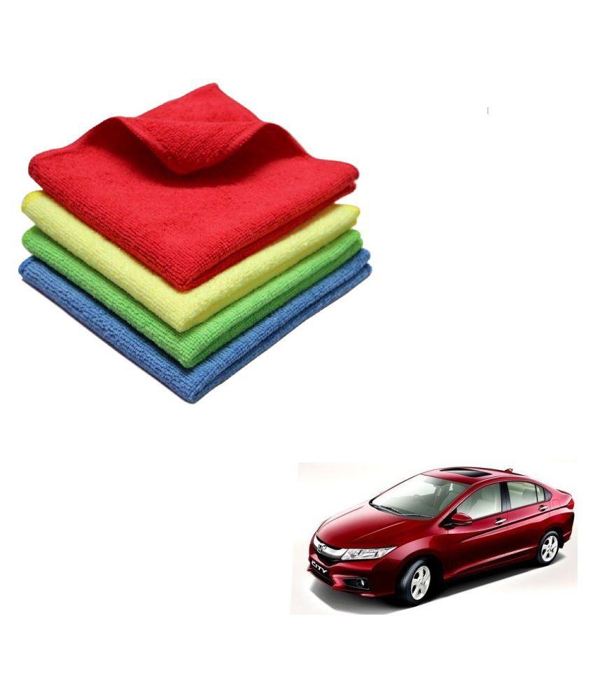 Kozdiko Microfiber Cleaning Cloth Car 300GSM 40x40 cm Pack of 4 For Honda Idtec (2014-Present)