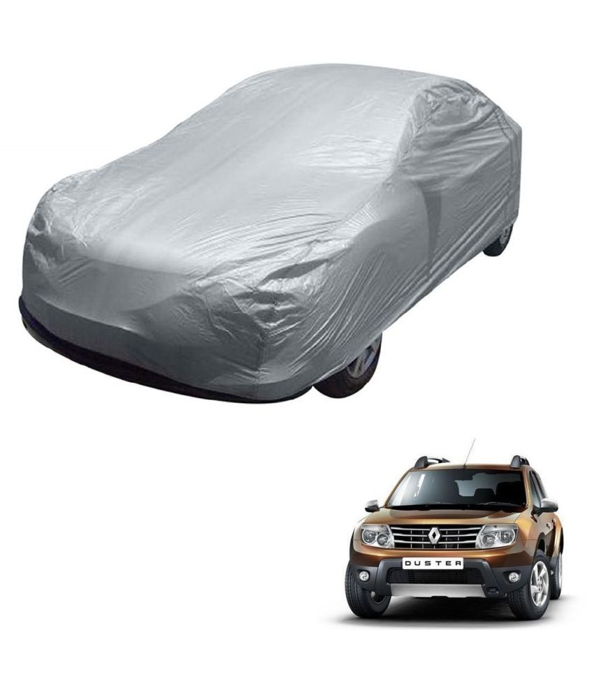 Kozdiko Silver Matty Car Body Cover With Buckle Belt For