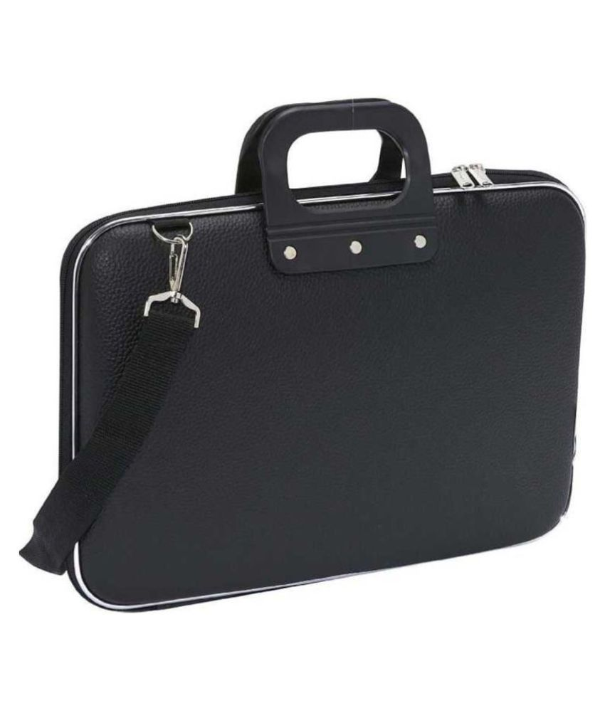 STUURMAN ELEGANT SLIM Black Polyester Office Bag