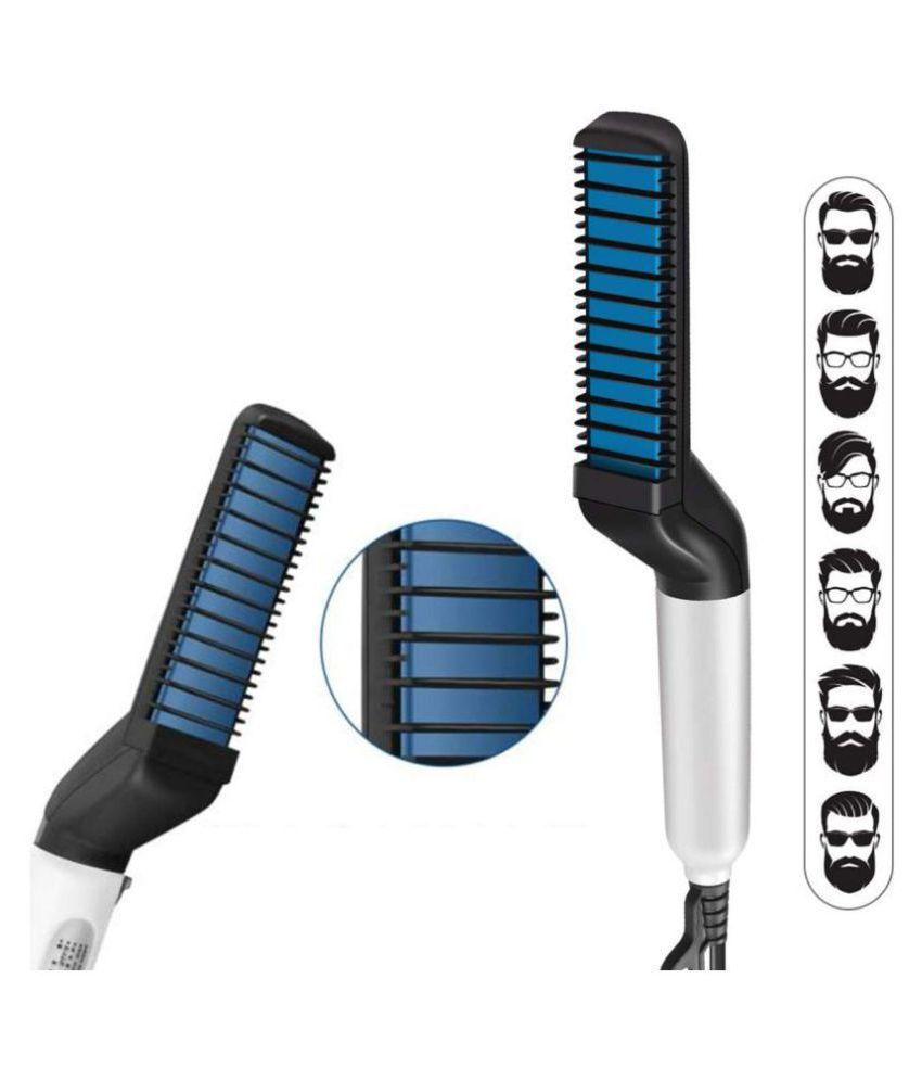 yogi enterprise Beard Modelling Comb Hair Straightener ( BLACK )