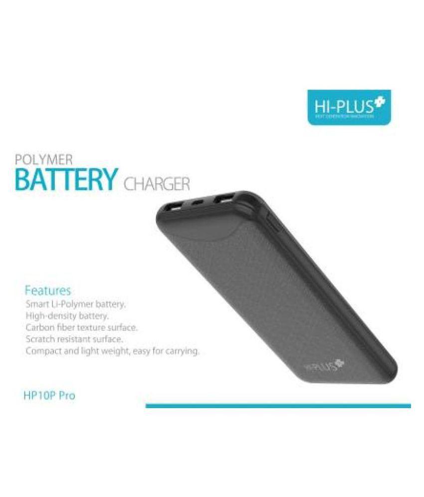 HI Plus HT10PPRO 10000  mAh Li Polymer Power Bank Black
